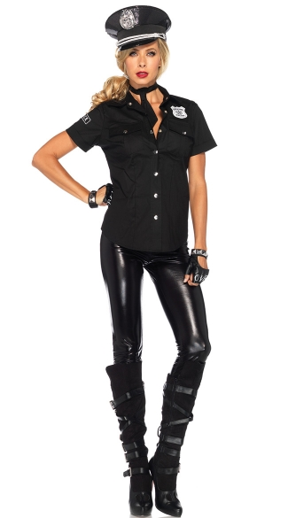Sexy Police Costume Kit - as shown