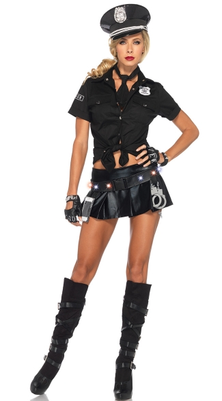 Ms Officer Costume Kit - as shown