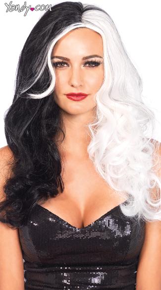 Cruella Wig - Black/White