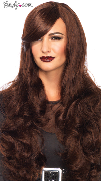 Long Wavy Wig - Brown