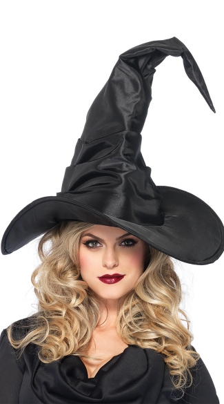 Extra Large Scrunched Witch Hat - Black