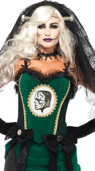 Bride of Frankenstein Veil - Black