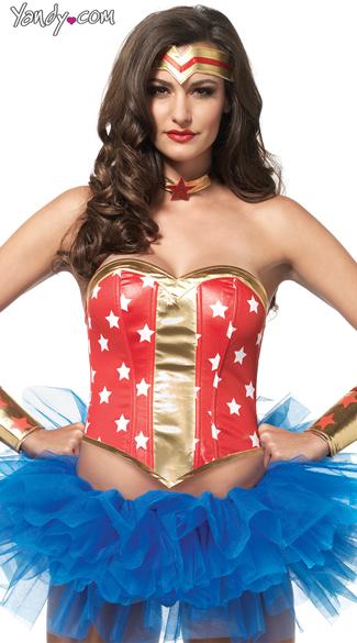 Super Star Hero Costume Kit - Red/Gold