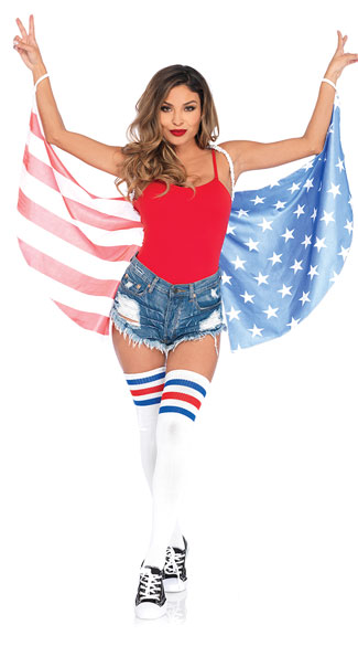 Stars and Stripes Wings - Red/White