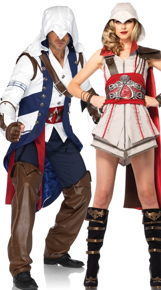 Assassins Creed Couples Costume  sc 1 st  Yandy & Assassins Creed Couples Costume Connor And Heroine Couples Costume ...