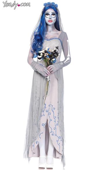 Corpse bride costume bridal costume zombie bride costume for Corpse bride wedding dress for sale
