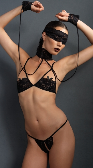 Sexy Submissive Four Piece Set - as shown