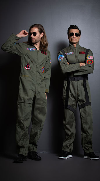 Men's Top Gun Couples Costume - as shown