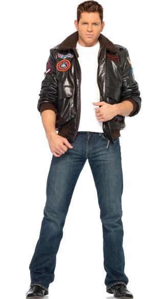 Top Gun Maverick Costume Mens  sc 1 st  Yandy & Top Gun Maverick Costume Mens Top Gun Mens Bomber Jacket Set Mens ...