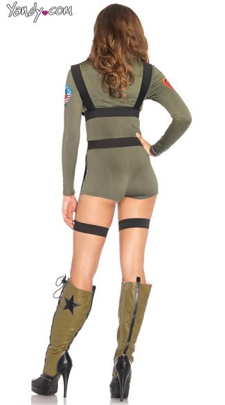 Top Gun Cutie Costume - Khaki