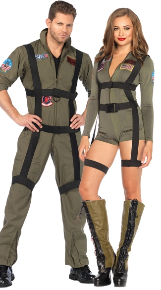 Top Gun Paratroopers Couples Costume Top Gun Cutie Costume Sexy