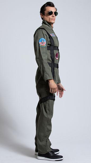 Men's Top Gun Paratrooper Costume - Khaki