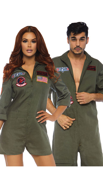 Casual Top Gun Couples Costume - as shown
