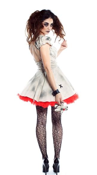 Voodoo Doll Vixen Costume - As Shown