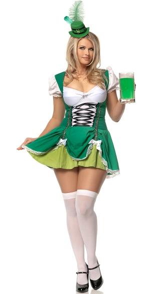 Plus Size Lucky Irish Lass Costume - Green
