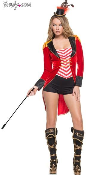 sc 1 st  Yandy & Female Ringmaster Costume Adult Lion Tamer Costume