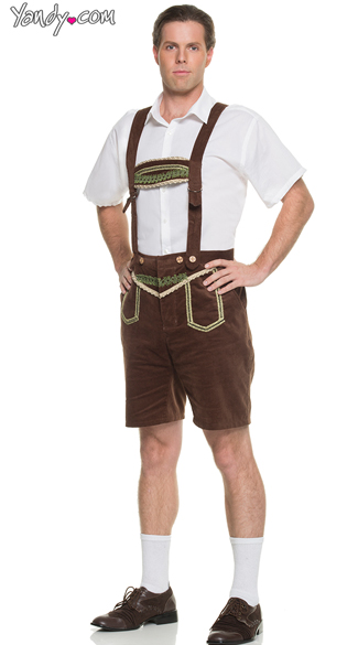 Bavarian Gentleman Costume, Men\'s Oktoberfest Halloween Costume, Men\'s German Beer Costume