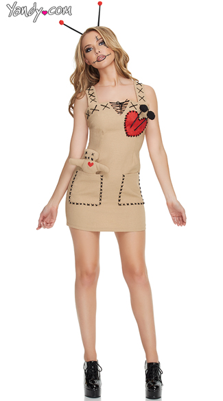 Seductive Voodoo Doll Costume - Brown ... 665f69213e