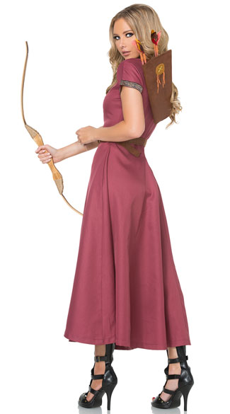 Medieval Huntress Costume - As Shown