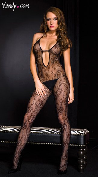 Cut Out Bodystocking, Keyhole Bodystocking