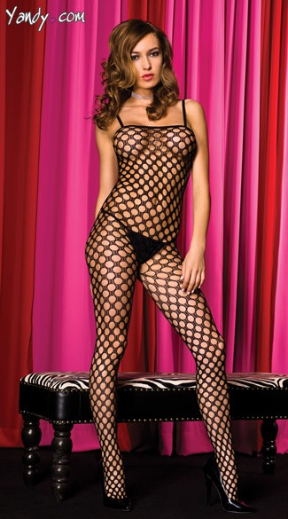 Wide Net Bodystocking, Bodystocking with Holes