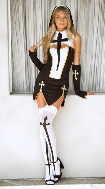 Bad Habit Nun Costume - Black/White