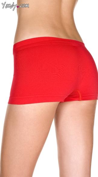 Spandex Seamless Boy Short - Red