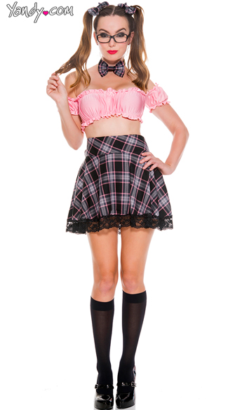 Youthful Schoolgirl Costume - As Shown