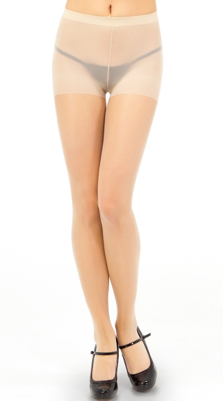 Sheer Control Top Pantyhose - Beige 8