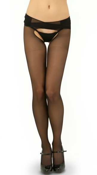 Big O Sheer Pantyhose, Spandex Pantyhose with Exposed Rear, Big O Pantyhose