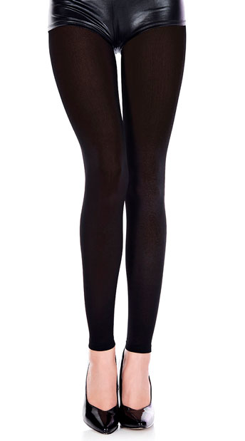 Babe Alert Footless Tights - Black