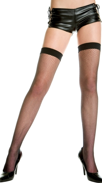 Plus Size Fishnet Thigh Highs, Plus Sized Stockings, Plus Size Hosiery