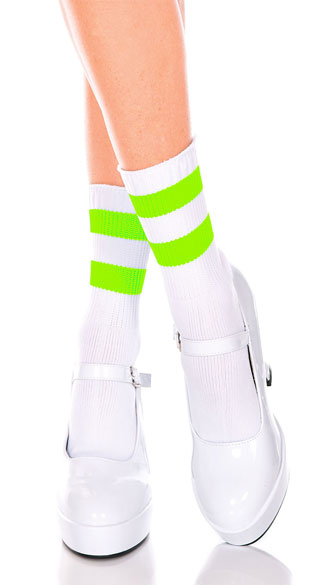 Striped Ankle Socks, Colorful Ankle Socks, Striped Anklet Socks
