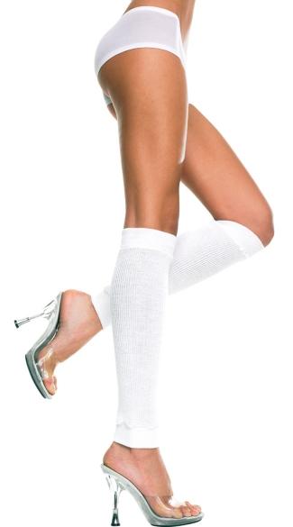 Knee High Leg Warmers - White