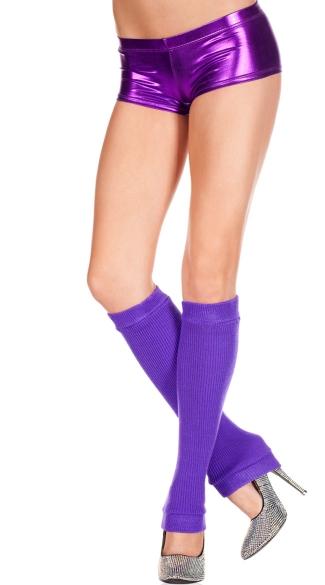 Knee High Leg Warmers - Purple