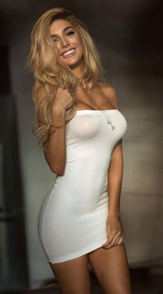 Basic Tube Chemise - White