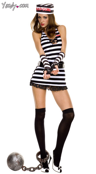 Sexy Prison Inmate Costume  sc 1 st  Yandy & Sexy Prison Inmate Costume Prison Costume Prison Costume Striped