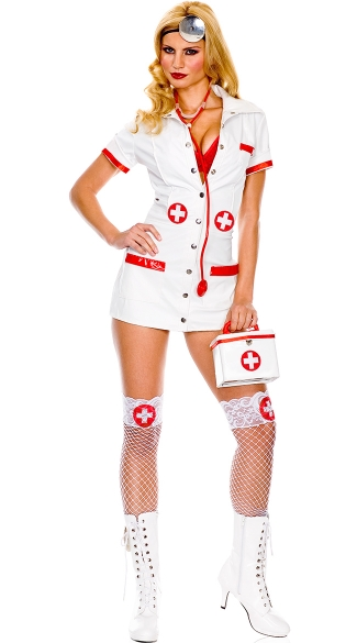 Plus Size Sexy Doctor Costume, Queen Size Womens Sexy
