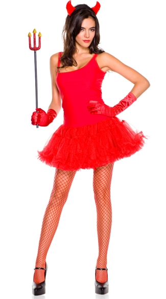 Devil Costume Accessory Kit - Red