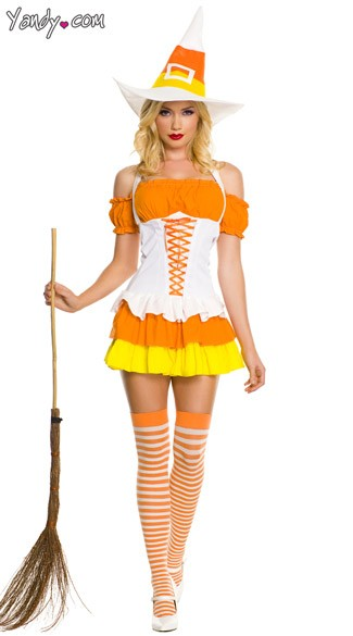 White Candy Corn Witch Costume Candy Corn Halloween Costume Candy Corn Girl Costume  sc 1 st  Yandy & White Candy Corn Witch Costume Candy Corn Halloween Costume Candy ...