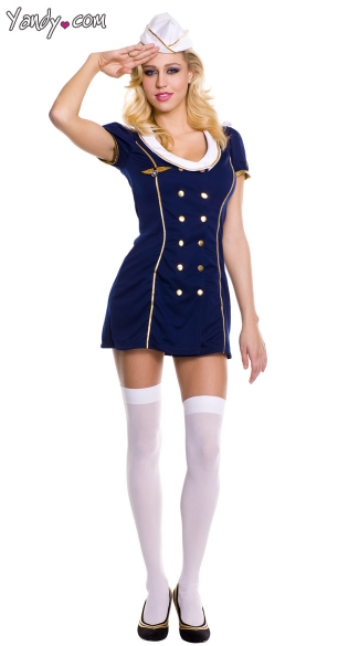 Private Jet Captain Costume Airline Pilot Costume Pilot Halloween Costume  sc 1 st  Yandy & Private Jet Captain Costume Airline Pilot Costume Pilot Halloween ...