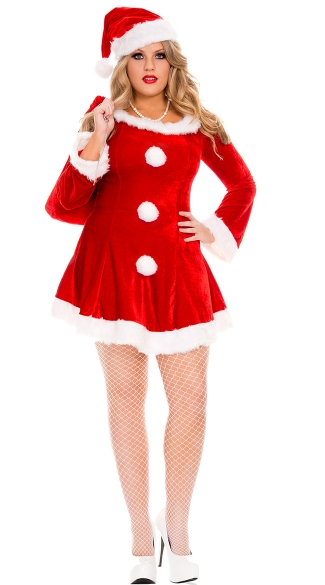36c9ae3b21b Plus Size Sleigh Hottie Santa Costume - Red ...