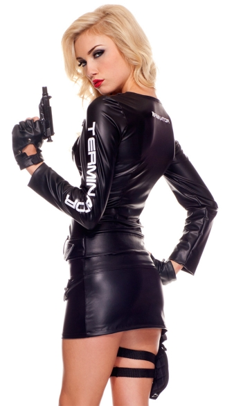 SHARE THE LOVE  sc 1 st  Yandy & Womens Terminator Costume Terminatrix Motorcycle Jacket Costume ...