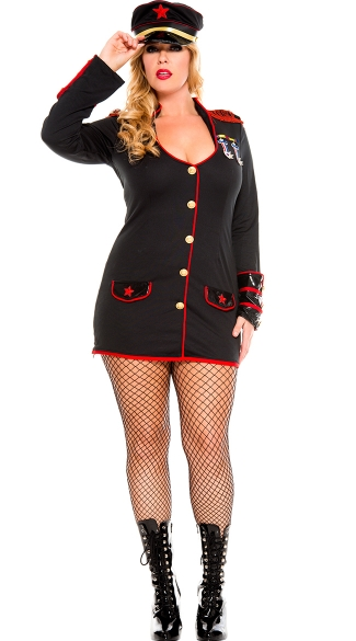 Plus Size Marine Honey Costume, Plus Size Marine Halloween Costume, Queen Size Marine Girl Costume