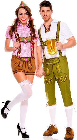 Beer Festival Couples Costume, Oktoberfest Couples Costume, Couples  Beerfest Costume, Lederhosen Couples Costume