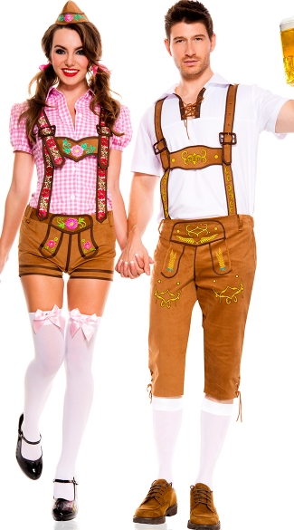Beer-ly Feeling It Couples Costume  sc 1 st  Yandy & Beer-ly Feeling It Couples Costume Mens Bavarian Lederhosen Costume ...
