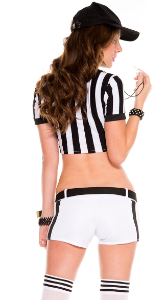 Sexy Racy Refree Costume - Black/White