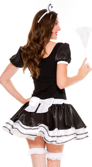 Sweet And Majestic French Maid Costume - Black/White
