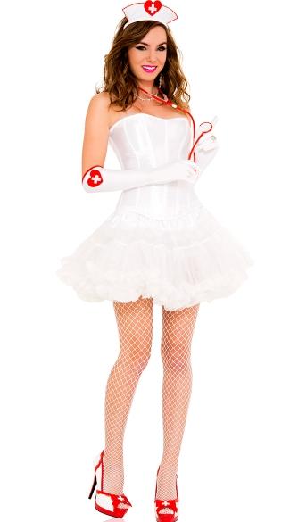 Naughty Nurse Accessory Kit - Red/White