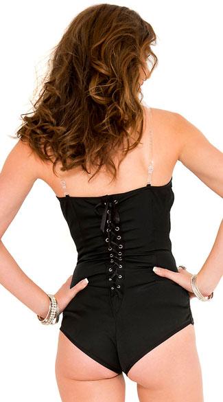 Lace-Up Back Bodysuit - Black